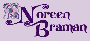 "Stylized signature ""Noreen Braman,"" embellished with a Celtic horse."